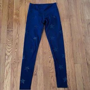 Blue star workout leggings